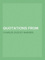 Quotations from the Project Gutenberg Editions of the Works of Charles Dudley Warner