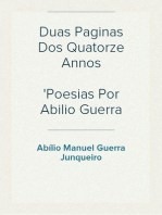Duas Paginas Dos Quatorze Annos Poesias Por Abilio Guerra Junqueiro