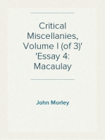 Critical Miscellanies, Volume I (of 3) Essay 4