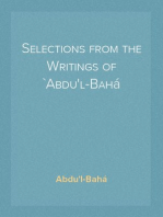 Selections from the Writings of `Abdu'l-Bahá