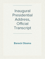 Inaugural Presidential Address, Official Transcript