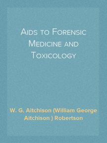 Read Aids To Forensic Medicine And Toxicology Online By W G Aitchison William George Aitchison Robertson Books