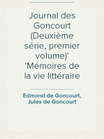 Journal des Goncourt (Deuxième série, premier volume) Mémoires de la vie littéraire