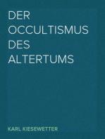 Der Occultismus des Altertums