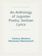 An Anthology of Jugoslav Poetry; Serbian Lyrics