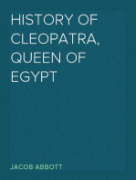 History of Cleopatra, Queen of Egypt