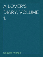 A Lover's Diary, Volume 1.
