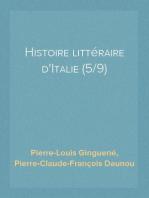 Histoire littéraire d'Italie (5/9)
