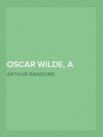 Oscar Wilde, a Critical Study