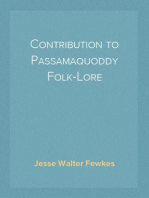 Contribution to Passamaquoddy Folk-Lore