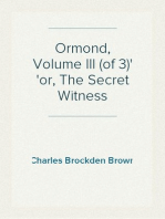 Ormond, Volume III (of 3) or, The Secret Witness