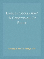 English Secularism A Confession Of Belief