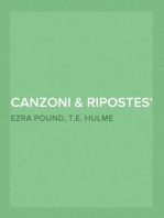 Canzoni & Ripostes Whereto are appended the Complete Poetical Works of T.E. Hulme