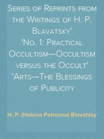 Studies in Occultism; A Series of Reprints from the Writings of H. P. Blavatsky No. 1