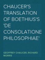 Chaucer's Translation of Boethius's 'De Consolatione Philosophiae'