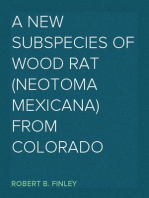 A New Subspecies of Wood Rat (Neotoma mexicana) from Colorado