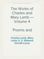 The Works of Charles and Mary Lamb — Volume 4 Poems and Plays