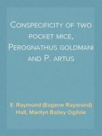 Conspecificity of two pocket mice, Perognathus goldmani and P. artus