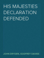 His Majesties Declaration Defended