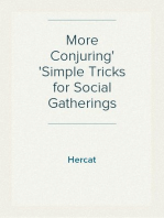 More Conjuring Simple Tricks for Social Gatherings