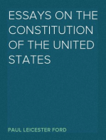 Essays on the Constitution of the United States