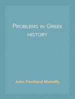Problems in Greek history