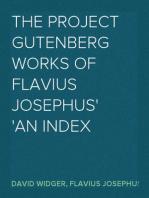 The Project Gutenberg Works Of Flavius Josephus An Index