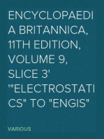 "Encyclopaedia Britannica, 11th Edition, Volume 9, Slice 3 ""Electrostatics"" to ""Engis"""