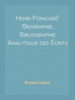Henri Poincaré Biographie, Bibliographie Analytique des Écrits