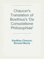 Chaucer's Translation of Boethius's 'De Consolatione Philosophiae'