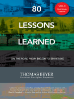 80 Lessons Learned - Volume III - Real Estate Lessons