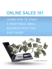 Online Sales 101: Learn how to start a profitable small business with this easy guide