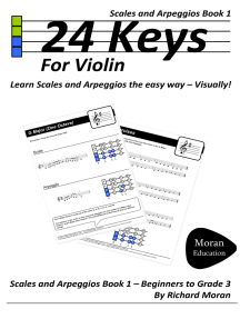 24 Keys: Scales and Arpeggios for Violin, Book 1 by