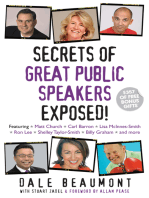 Secrets of Great Public Speakers Exposed!