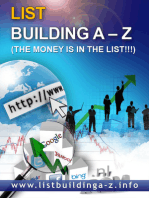 A-Z List Building! Build Your Own Profitable List! Money On Tap!