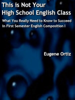 This is Not Your High School English Class