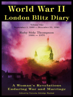 World War ll London Blitz Diary Volume 1