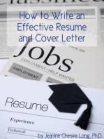 How to Write an Effective Resume and Cover Letter
