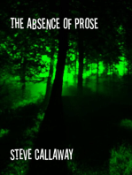 The Absence of Prose