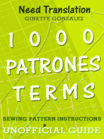 1000 Patrones Terms: Sewing Pattern Instructions Unofficial Guide