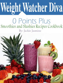 Weight Watcher Diva 0 Points Plus Smoothies and Slushies Recipes Cookbook