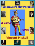 Humorous Poetry Parodies & Even Verse