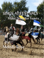 Sings At Festivals: Music Trivia For Feasts