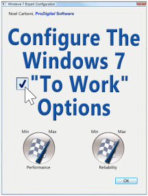 Configure The Windows 7 To Work Options