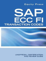 SAP ECC FI Transaction Codes
