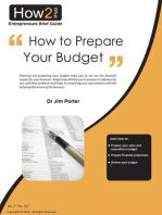 How to Prepare Your Budget
