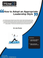How to Adopt an Appropriate Leadership Style