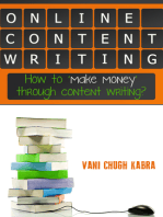 Online Content Writing- How To Make Money Through Content Writing