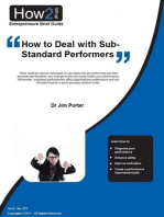 How to Deal with Sub-Standard Performers