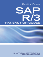 SAP R/3 Transaction Codes Unofficial Certification and Review Guide
